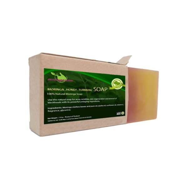 Moringa, honey and turmeric soap