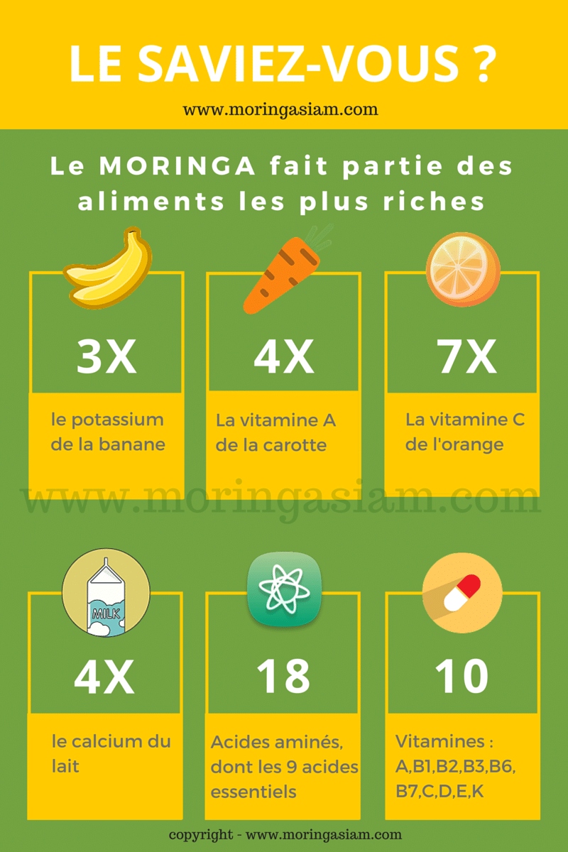 richesse nutritionnelle du moringa oleifera